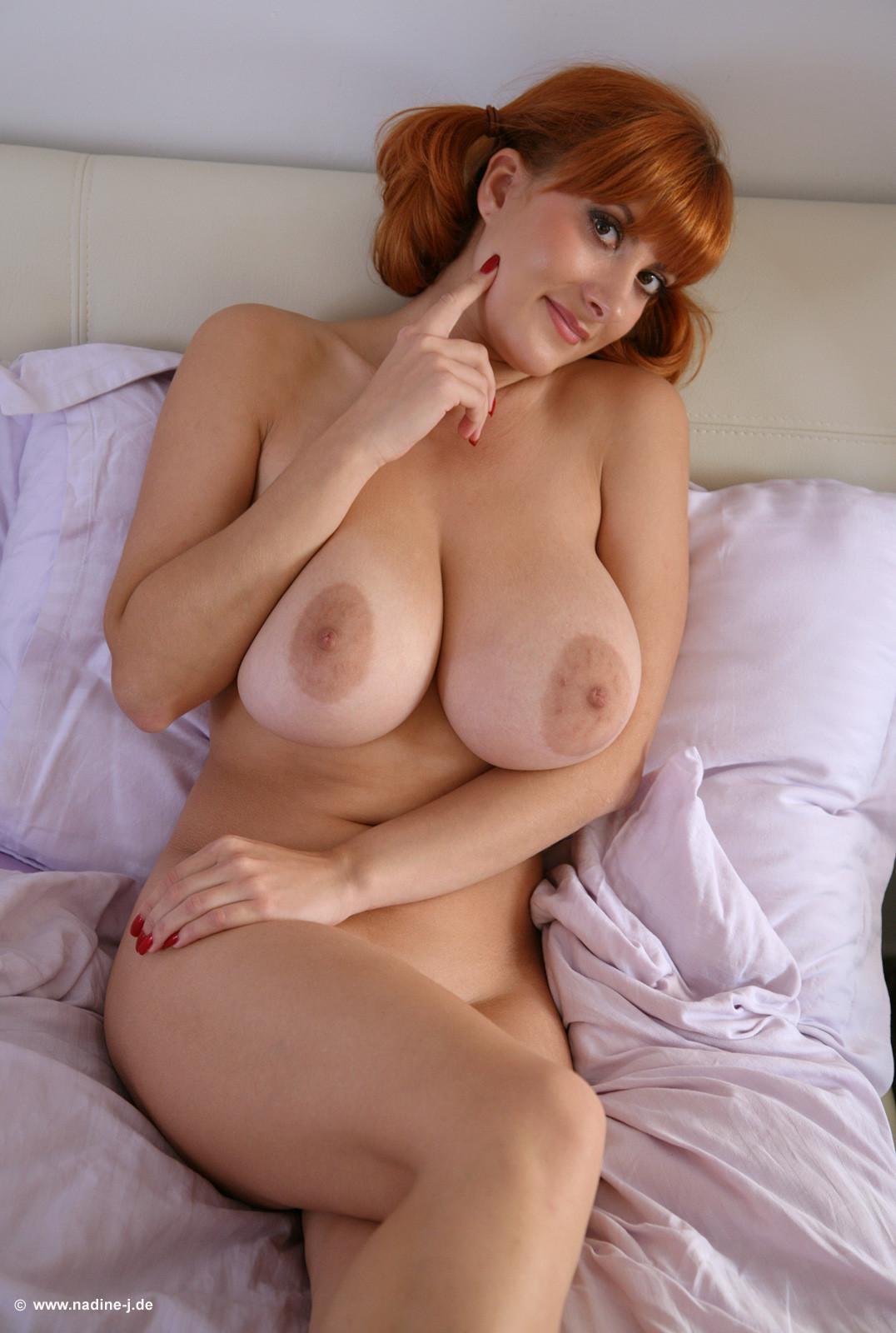 Sexy sweaty busty nude redhead mom