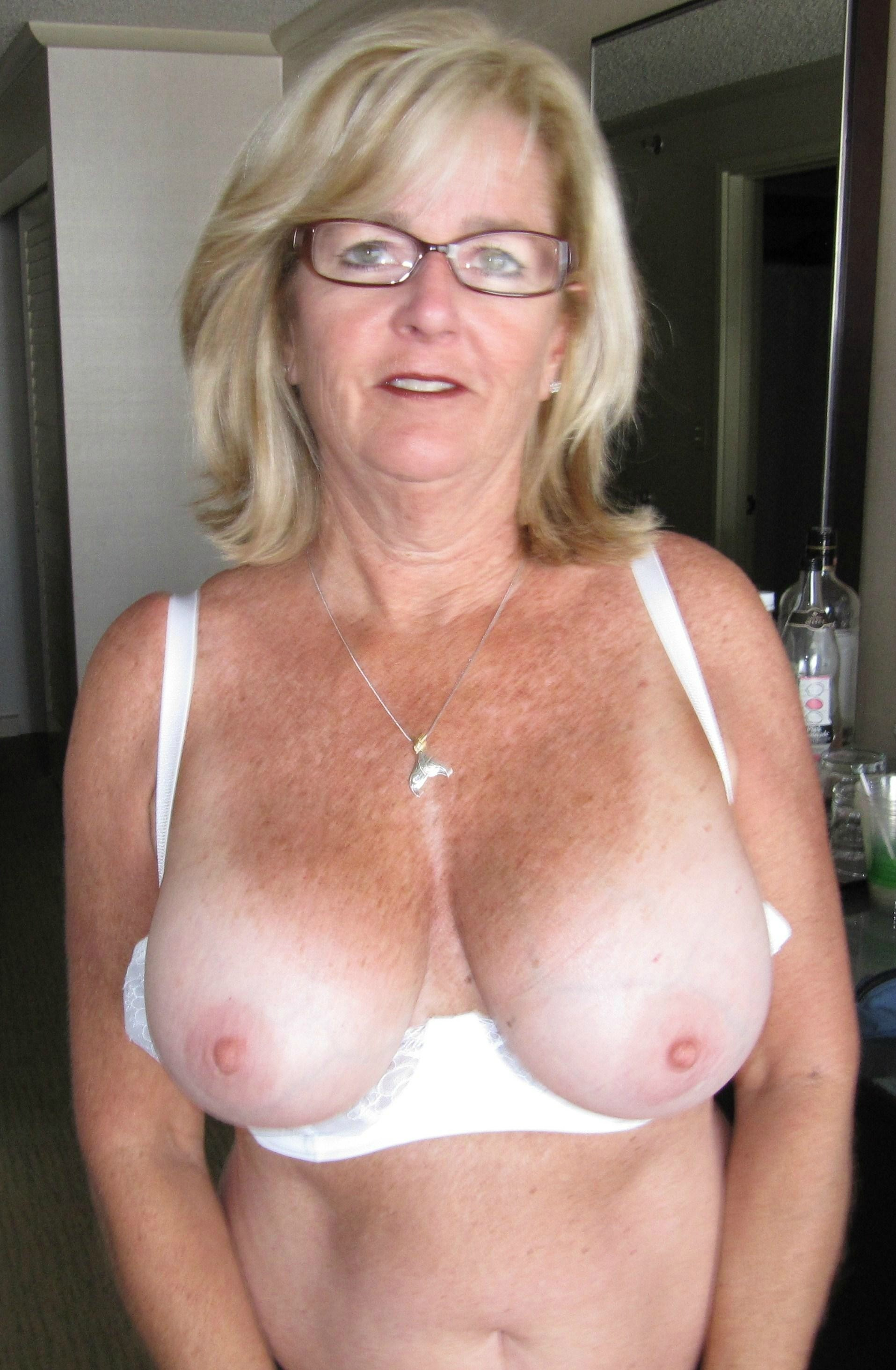 Freckled milf tits