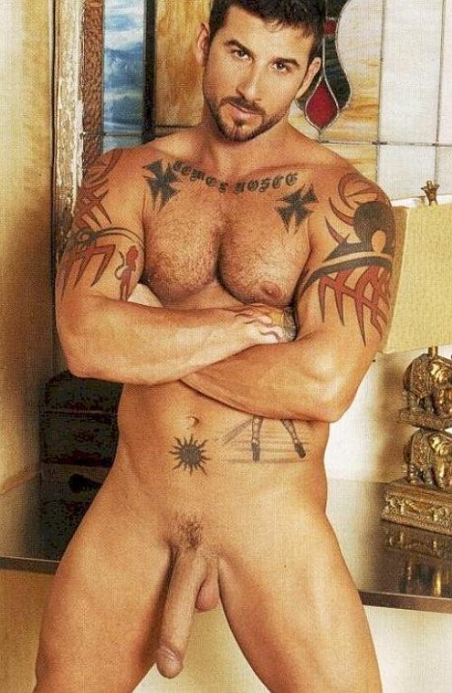 порноактер с татуировкой на всю левую руку - 4