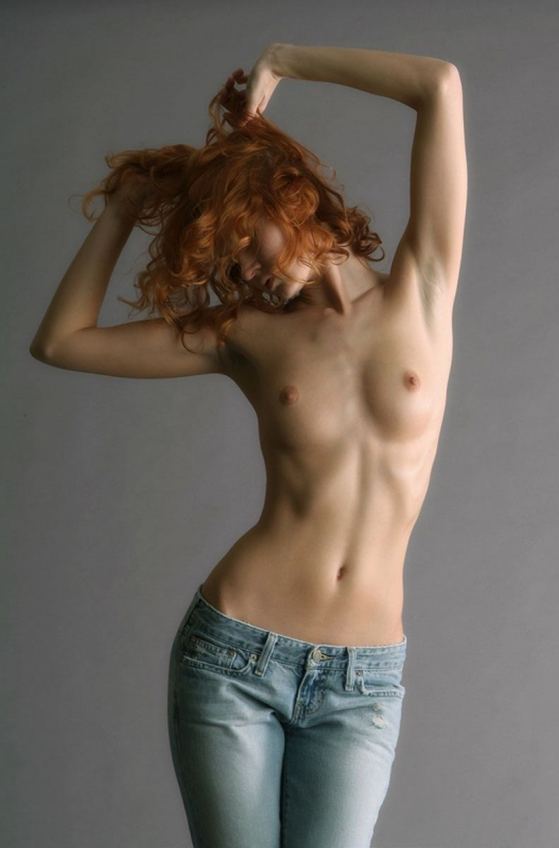 Girls topless in pants — pic 5