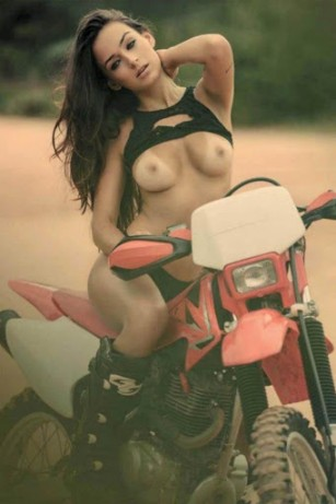 Sexy nude girls and dirt bikes goes