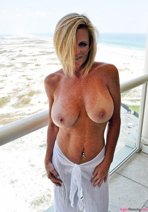 Milf fake tits freckels